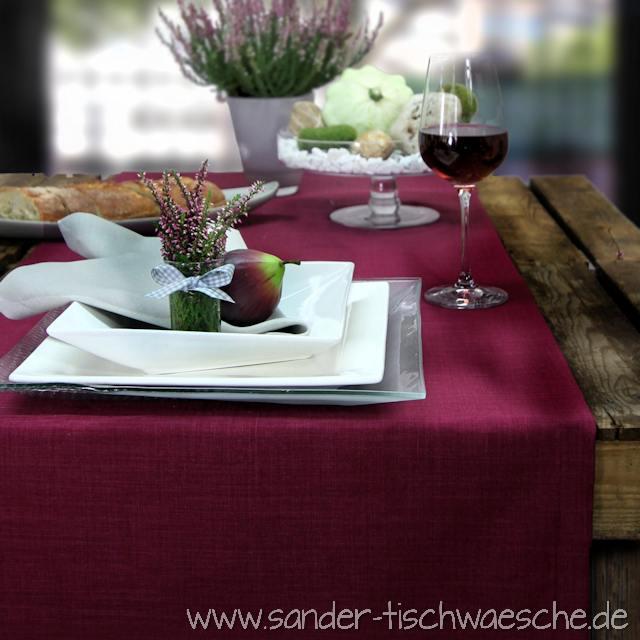 Tischläufer aubergine pflaume beerenton