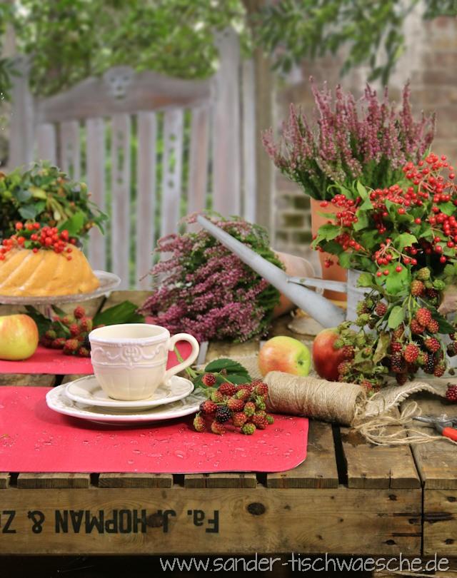 Tischsets Garten rot