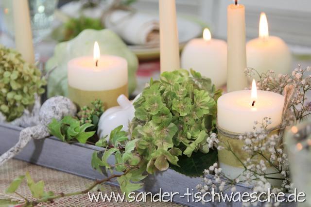 gedeckter Tisch Herbst