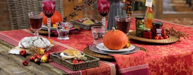 Jacqurd Tischdecke Herbst von Sander