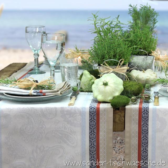Jacquard Tischdecke und Tischläufer
