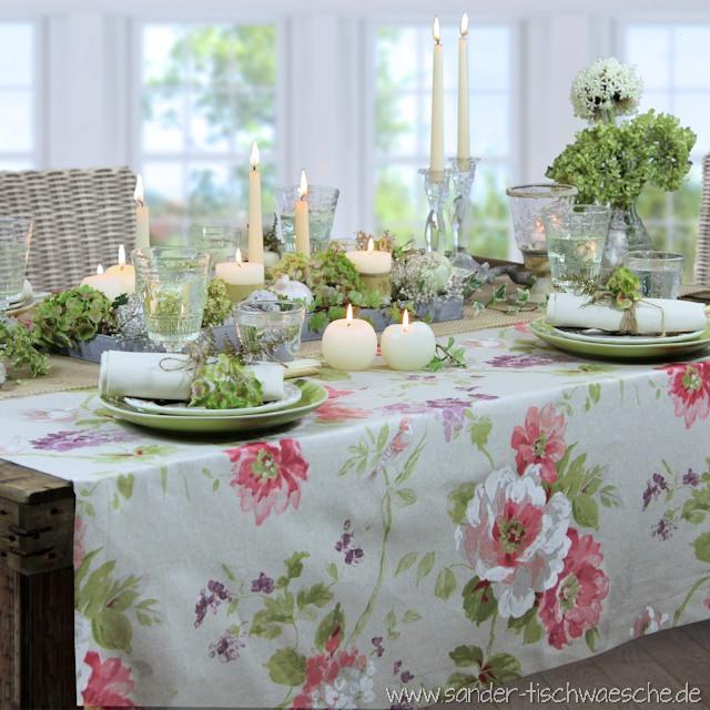 romantische Tischdeko