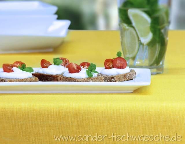 Abwaschbare Tischdecke Gartentischdecke gelb