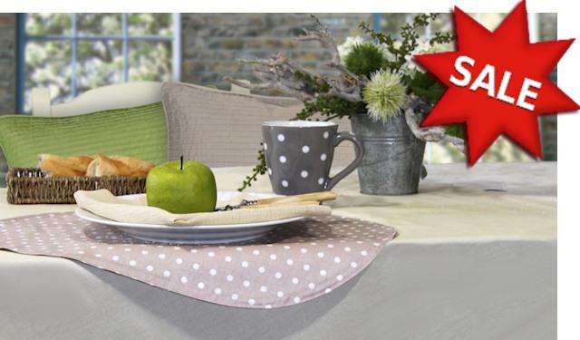 Tischdecken und Tischläufer reduziert