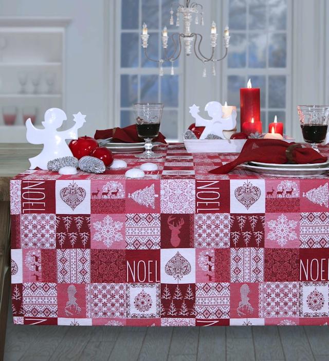 Weihnachtstischdecke rot