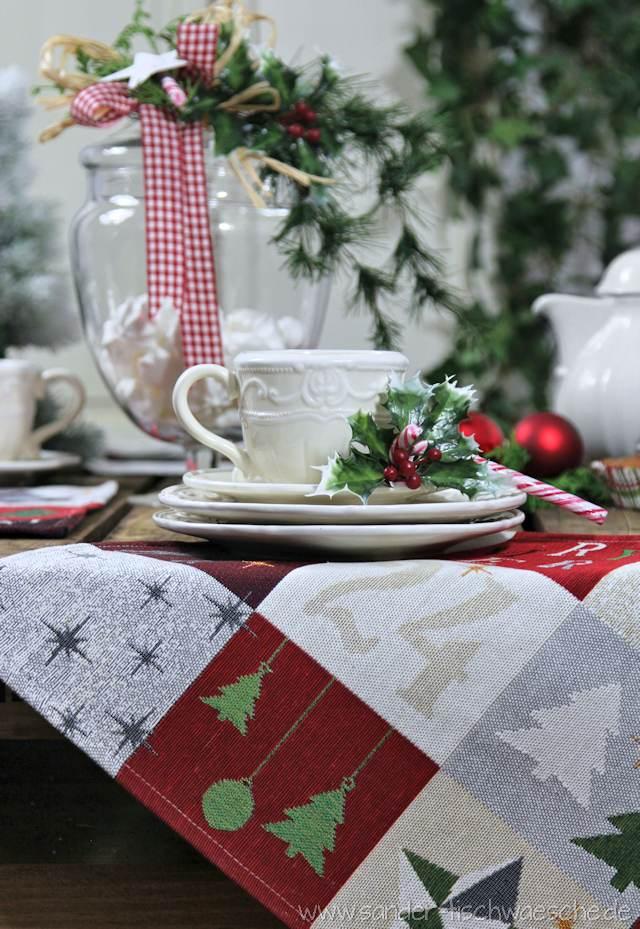 weihnachten tisch decken. Black Bedroom Furniture Sets. Home Design Ideas