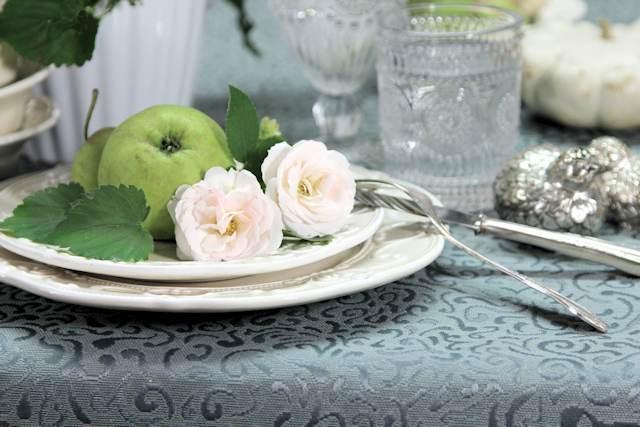 Tischdecken grau